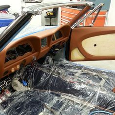 1967 chevelle custom interior in brown