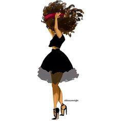 The talented debra cartwright @beginningkisses. afro hair art. curly hair art.