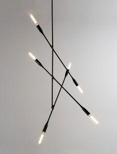 Dunn Sorenthia 3-Arm Light in Black Poppy   DSHOP