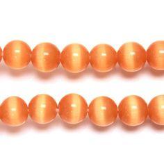 Fiber Optic, How To Make Beads, Cat Eye, Glass Beads, Peach, Peaches