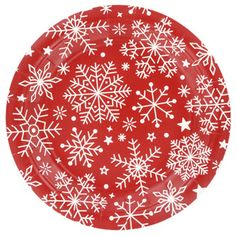 "Don't spend hours cleaning plates after your next holiday party. 9"" heavy-duty paper plates are adorned with snowflakes and are the perfect size for large meals and heavy hors d'oeuvr"
