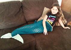 🐋 💁🏼 🐋 Crochetar Sereia Cobertor Sereia cauda torcida Fios -  /  🐋 💁🏼 🐋 Crochet Mermaid Blanket Mermaid Tail Twisted Yarn -