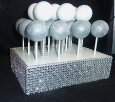 bling faux rhinestone cake pop stand display holder lollipop treat pop stand holder display candy bar buffet table centerpiece serving set on Etsy, $19.00