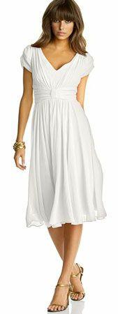 "Suzi Chin Chiffon Empire Waist Dress from Macy's. Get more ""Offbeat Bride"" ideas like this at RetailMeNot!"