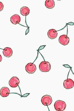 Image via We Heart It #background #cherries #wallpaper