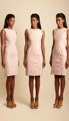 Trapunto Stitching Mimi Plange Dresses