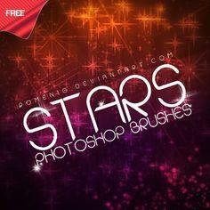 Efeito Photoshop: Free Stars Photoshop Brushes