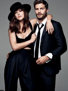 Jamie Dornan and Dakota Johnson - aka Christian Grey and Anastasia Steele - star on GLAMOUR UK's Fifty Shades of Grey cover, and we think you'll agree: they both look smokin' hot. Find out more about our 50 Shades cover stars on GLAMOUR. Jamie Dornan, Fifty Shades Darker, Fifty Shades Of Grey, Shades Of Grey Movie, Cover Shoot, Portrait Photos, Mr Grey, Gray, Stylish Couple