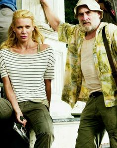 Andrea and Dale ... Sad he didn't last longer .... The Walking Dead