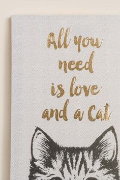 All You Need Is Love and A Cat Canvas Wall Decor-  gift-clalternate