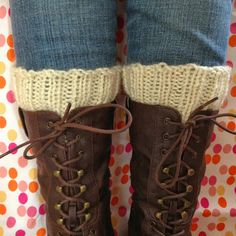 I like this one too especially since it doesn't use double pointed needles.  Simple Knitted Boot Cuffs