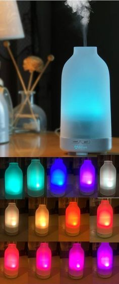 GLASS diffuser!!  I have used so many different diffusers in my home, and I must say that this is one of the best! It's a favorite!  High mist output, glass cover, and great light show (as well as options for white light and no light)
