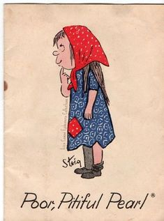 Poor Pitiful Pearl, doll based on drawing by William Steig. Booklet drawn by Steig came with the doll. Liza Cowan Ephemera Collections