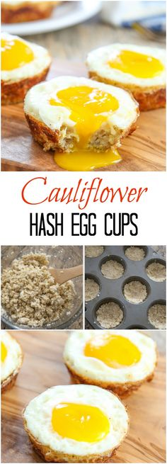 Cauliflower Hash Egg Cups. A healthier, low carb alternative and great for breakfast or brunch!