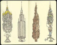 15 Beautiful & Creative Sketchbook Drawings for Inspiration_ Mattias Adolfsson
