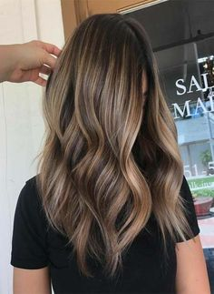 Caramel Colored Highlight Hairstyles 2018