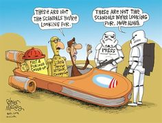 "Cartoon: Media Says, ""These Are Not The Scandals We're Looking For"""