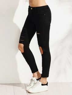 Jeans Negros Rotos * - Toppunt - 2