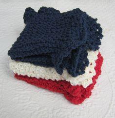 Knit Dishcloth/Washcloth/Dish Rag/Wash Rag Set of by Kitkateden