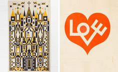 Above all, Girard's work persued a humanist agenda, celebrating a universal language and common bond that still holds true today. Pictured left: design drawing for textile panel. Photography: Andreas Sütterlin. Right: 'Love Heart, Environmental Enrichment Panel #3017', for Herman Miller, 1971. Both courtesy of Alexander Girard Estate/Vitra Design Museum