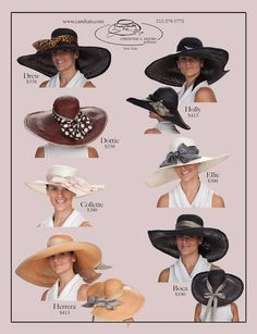 Derby hats. always match your outfit to hat, never hat to outfit...