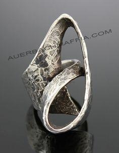 Karram Modernist Sterling Sculptural Ring