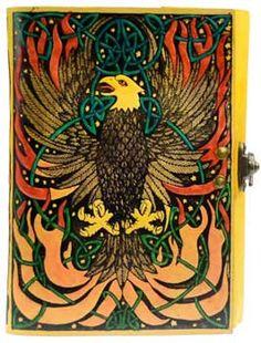 Phoenix leather blank book w/ latch