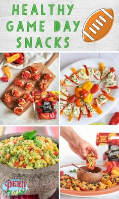 Get ready to cheer on your team with these healthy game day snacks! These 4 recipes featuring Pero Family Farms will score you major points with your guests while adding healthier options to your spread. Game Day Appetizers, Game Day Snacks, Game Day Food, Healthy Appetizers, Yummy Snacks, Mini Sweet Peppers, Stuffed Sweet Peppers, Healthy Alternatives, Healthy Options