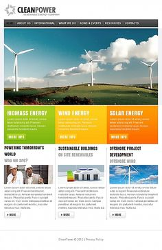 Clean Power Facebook HTML CMS Templates by Hugo
