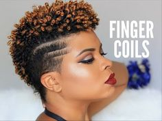 Natural Hair | How To - Sexy Finger Coils On Natural Tapered Hair - YouTube