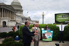 Ben & Jerry's just took their GMO labeling food fight all the way to Washington. We're on your side, guys!