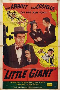 1946 movie posters | Abbott & Costello Little Giant