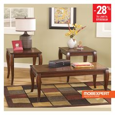Browse Coffee & End Table Sets at Ashley Furniture HomeStore. Design your Living Room your way with styles that range from rustic to modern. 3 Piece Coffee Table Set, Coffee And End Tables, Occasional Tables, Pc Table, End Table Sets, Side Tables, Table Furniture, Home Furniture, Royal Furniture