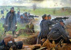 Austro-Hungarian army in action 1914 machine gun company.