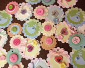 """Free Shipping""  Set of 24 Handcrafted Cardstock Assorted Baby Tags  ... $6.99"