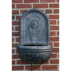 Alfresco Home Alfresco Home Cologne Outdoor Resin Wall Fountain