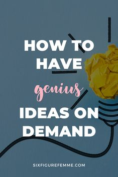 In a fast-moving world, one of the most important traits you can have is adaptability and inventiveness. Here is the stupidly simple way to have genius ideas on demand on everything from business to fitness to finance and more. Self Development, Personal Development, Building Self Esteem, Morning Affirmations, Word Of Advice, Practical Life, Business Money, Self Confidence, Best Self