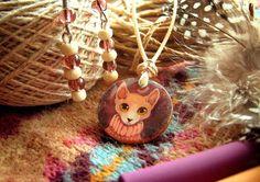 Cozy sphinx pendant with earring