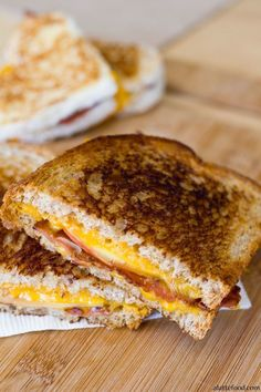 Apple Bacon and Cheddar Grilled Cheese: This savory sandwich is complemented by the sweet apple to make it comfort food to the max.