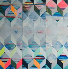 "Saatchi Art Artist Stacie Rose; Painting, ""Chevron Stack"" #art"