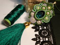 Check out this item in my Etsy shop https://www.etsy.com/listing/546397281/soutache-pendant-green-necklace