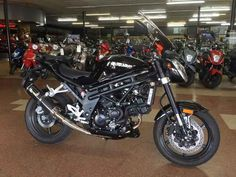 New 2013 Hyosung GT650 Motorcycles For Sale in Kentucky,KY. 2013 Hyosung GT650, 2013 Hyosung GT650 Demo with 200 miles! Store Owner's Demo with red anodized adjustable levers, master cylinder covers, rider's seat and windshield! Comfortable ergonomics with power to spare - our best performing sportbike is also available in naked trim. The GT650 is nearly identical to the GT650R but with minimal bodywork and a less aggressive riding position. The GT650 naked is all about serious performance…