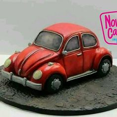 VW Beetle Cake Icing, Fondant Cakes, Extreme Cakes, Realistic Cakes, Dad Cake, Teddy Bear Cakes, Truck Cakes, Funny Cake, Birthday Cakes For Men