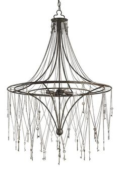 """View the Currey and Company 9506 Chiave 4 Light 45"""" High 1 Tier Chandelier at LightingDirect.com."""