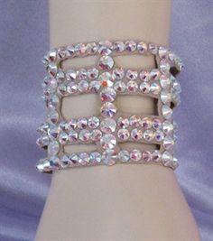 Ballroom Bracelet 2 in wide Cutout Swarovski Crystal