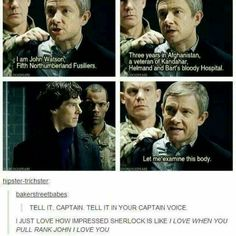 Sherlock's face! Oh captain, my captain!