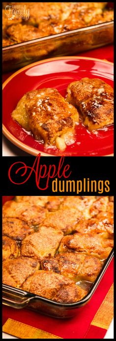 If you are looking f If you are looking for a delicious apple dessert recipe this one is for you. These apple dumplings are like little individual apple pies and they are so easy to make! via Favorite Family Recipes Mini Desserts, Apple Dessert Recipes, Fruit Recipes, Apple Recipes, Just Desserts, Fall Recipes, New Recipes, Delicious Desserts, Cooking Recipes