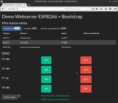 demo webserver esp8266 theme bootstrapCDN darkly