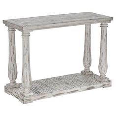 Murray Hill Balustrade Console Antique White - Inspire Q