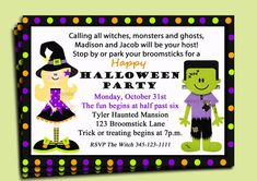 Halloween Party Invitation Printable  Siblings  by ThatPartyChick, $15.00